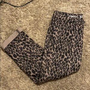 Apt 9 leopard print straight denim capri